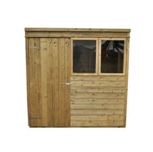 Hartwood Premium 7' x 5' FSC Tongue and Groove Pent Shed Front View