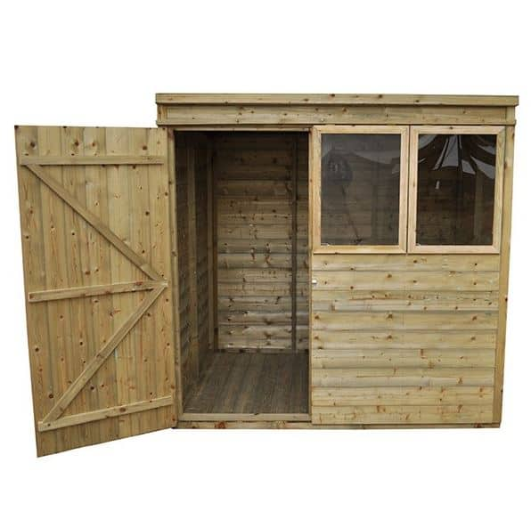 Hartwood Premium 7 X 5 Fsc Tongue And Groove Pent Shed