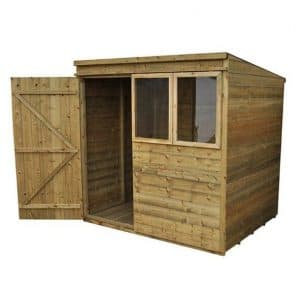 Hartwood Premium 7' x 5' FSC Tongue and Groove Pent Shed Left Side View