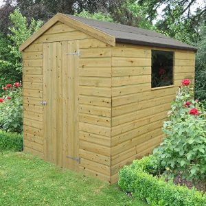 Hartwood Premium 8' x 6' FSC Shiplap Apex Shed Closed Door