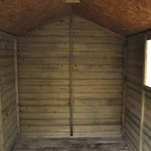 Hartwood Premium 8' x 6' FSC Shiplap Apex Shed Internal View