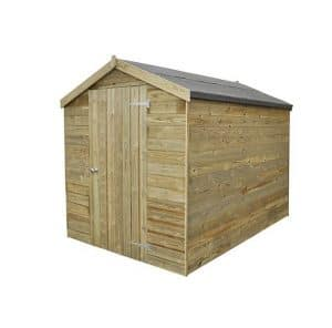 Hartwood Premium 8' x 6' FSC Tongue and Groove Apex Shed Right Side View