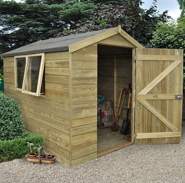 Hartwood Premium 8' x 6' FSC Tongue and Groove Apex Shed