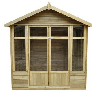 Hartwood Tetbury 7' x 5' FSC Overlap Apex Pressure Treated Summerhouse Closed Double Door