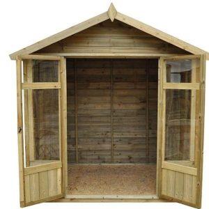 Hartwood Tetbury 7' x 5' FSC Overlap Apex Pressure Treated Summerhouse Empty Inside