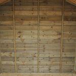 Hartwood Tetbury 7' x 5' FSC Overlap Apex Pressure Treated Summerhouse Inside View