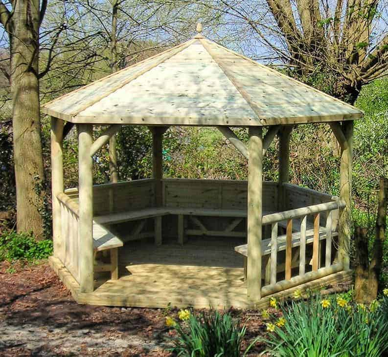 14 x 12 M&M Imperial Hexagonal Timber Roof Large Gazebo