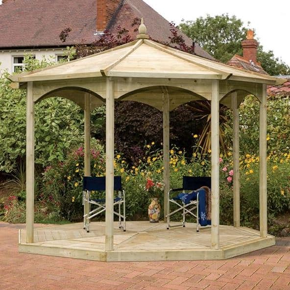 Regis Octagonal Large Gazebo With No Sides