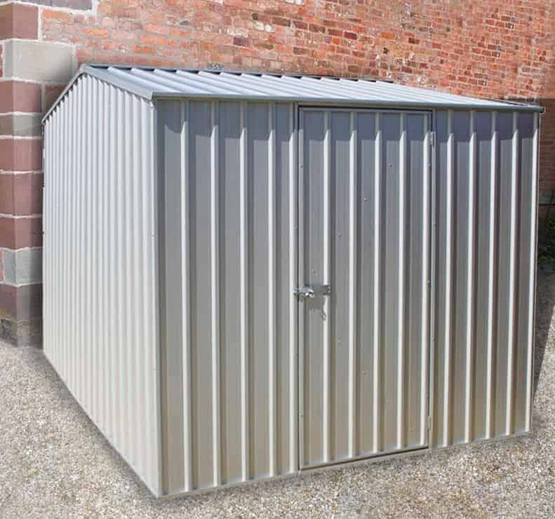 10' x 7' Lotus Anthracite Grey Metal Shed (3.07m x 2.16m)