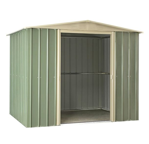 Waltons 7ft x 6.3ft Metal Apex Garden Storage Shed - Dark Green