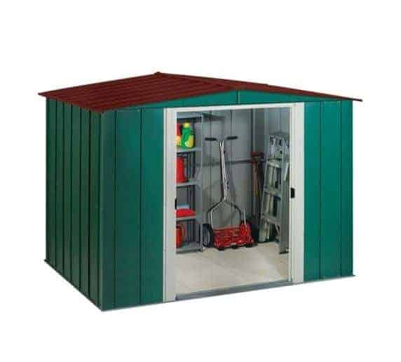 8'3 x 6' Arrow Woodvale Garden Metal Storage Shed (2.53m x 1.81m)