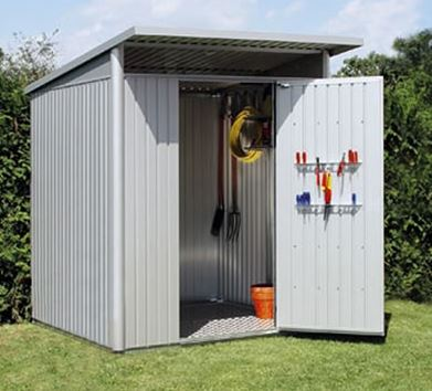8' x 6' Falcon Heavy Duty Metal Garden Shed - Single Door (2.4m x 2m)