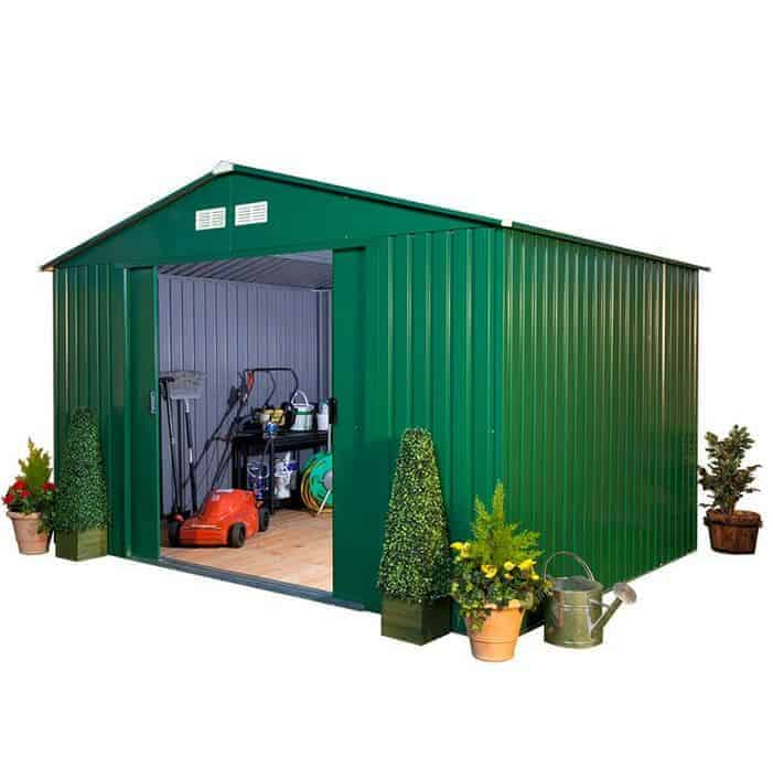 BillyOh Clifton 10u0027 Fronted Premium Hot Dipped Galvanised Metal Shed