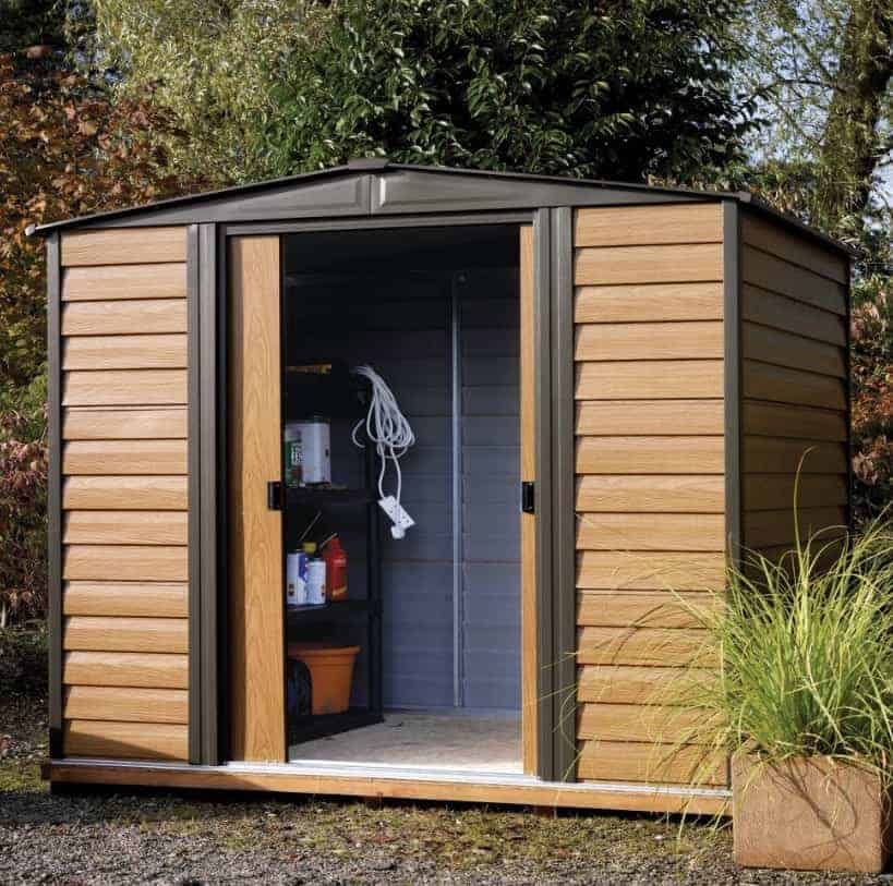 Rowlinson Woodvale 8' x 6' Apex Metal Shed