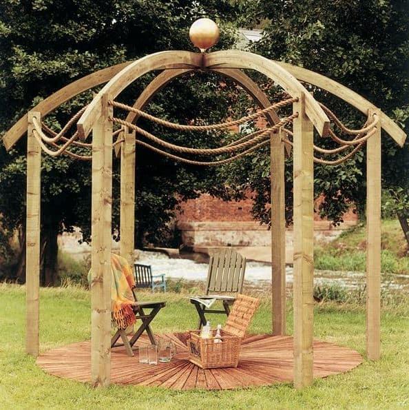11' Jac Flower Domed Modern Pergola
