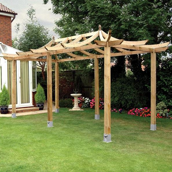 16 x 9 Dragon Modern Pergola With Spikes