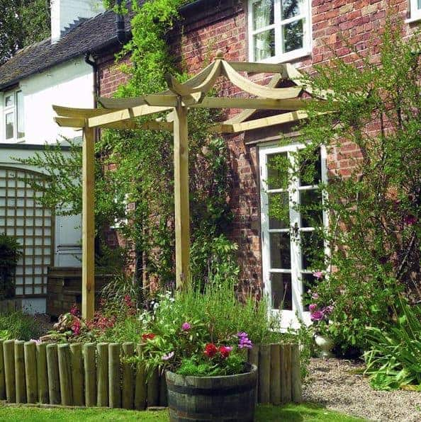 9' x 8' Dragon Patio Modern Pergola