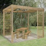 Outdoor Pergola - 10' x 8' Arbour-Plus Florence Outdoor Pergola With Panels