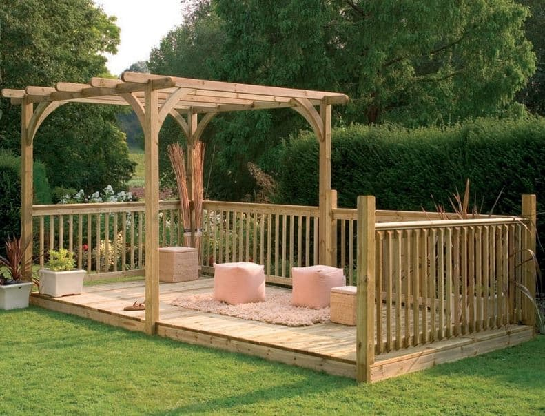 16' x 8' (4.88x2.44m) Forest Large Pergola Deck Kit