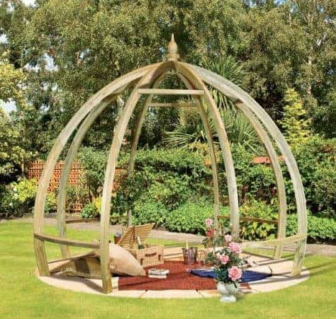 Grange The Pod Pergola Pressure treated green