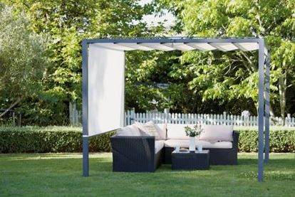 Angel Living Outdoor Garden Polyester Top Roof Retractable Roof Cloth 3x4M Garden Pergola Gazebo