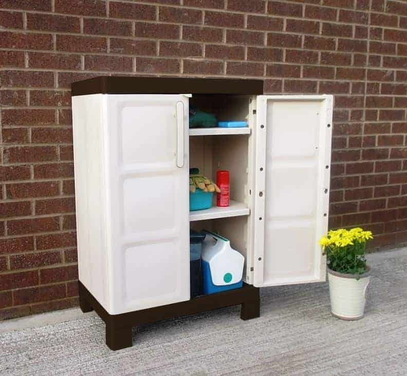 Suncast Base Utility/ Garage Cabinet Grey - Plastic Storage Cupboard