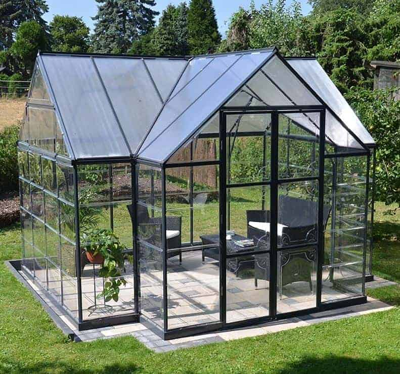 12'x10' Palram Victory Orangery Large Walk In Polycarbonate Greenhouse (3.6x3m)