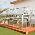 Plastic Greenhouse - 6 x14 Palram Harmony Silver Plastic Greenhouse With Base