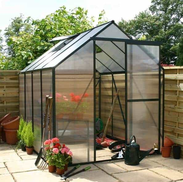Garden Grow 6.2 x 6.2ft Greenhouse - Green