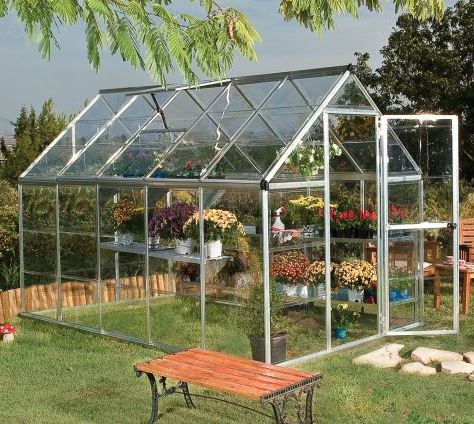 6'x10' Palram Mythos Large Walk In Silver Polycarbonate Greenhouse (1.8x3m)
