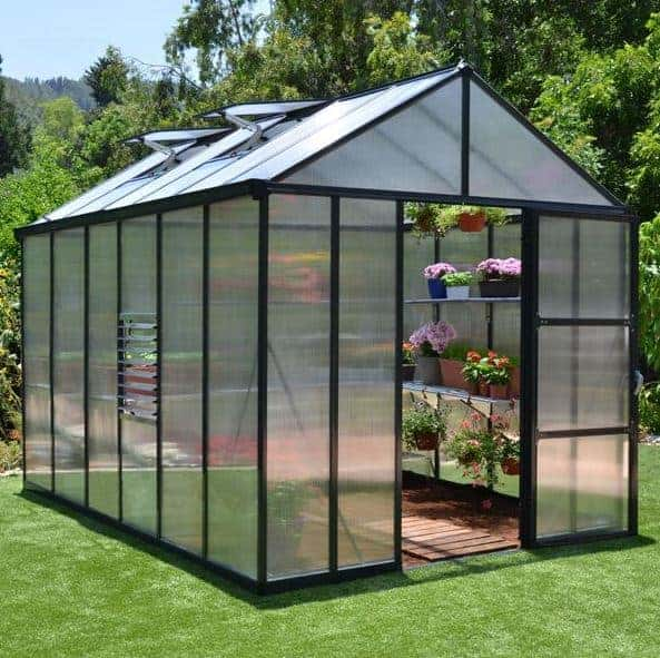 Garden Grow 6.2 x 8.3ft Greenhouse - Green