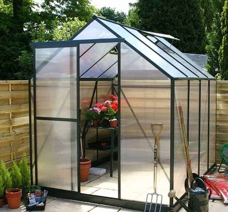 8' x 14' Eden Blockley Greenhouse (2.56m x 4.41m)