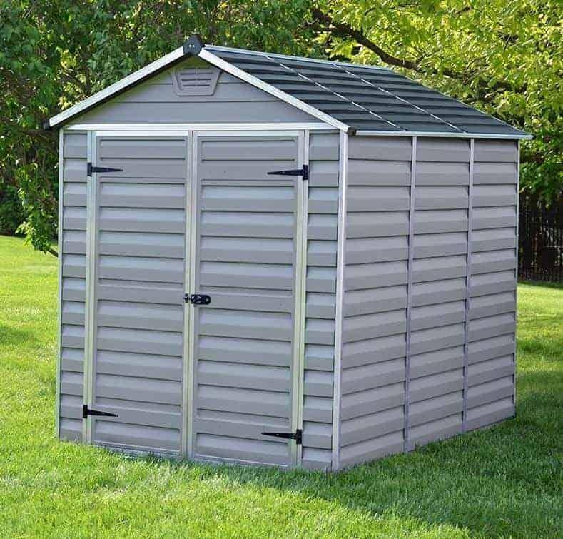 6' x 8' Palram Grey Skylight Plastic Shed (1.88m x 2.39m)