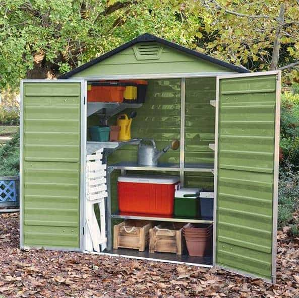 Waltons 6 x 3 Green Skylight Plastic Storage Sheds