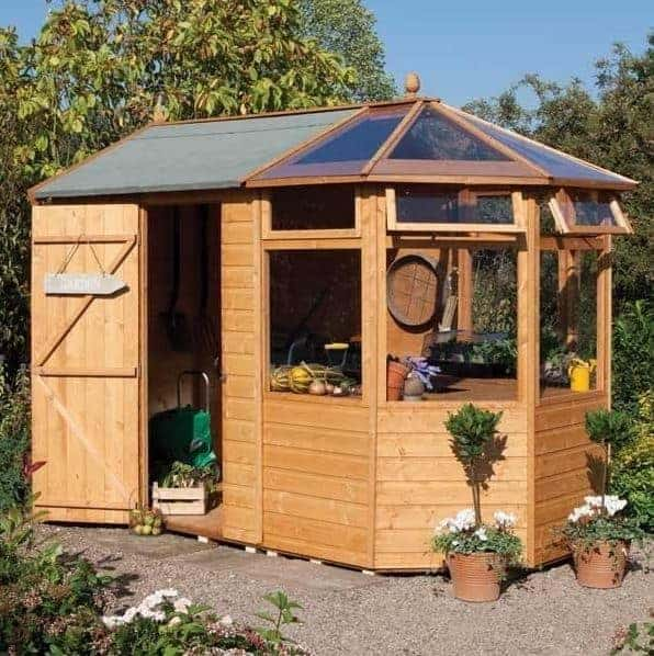 10'3 x 6'8 Rowlinson Deluxe Shiplap Potting Sheds