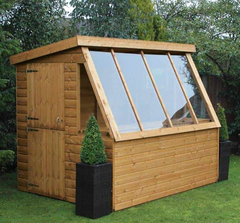 10' x 8' Traditional Wooden Potting Garden Shed with 8' Gable (3.05m x 2.43m)