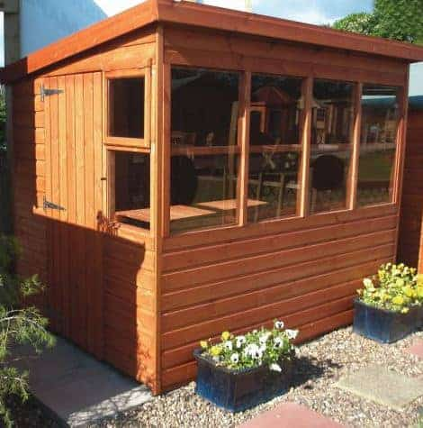 8' x 8' Traditional Sun Pent 8' Gable Wooden Garden Shed (2.43m x 2.43m)