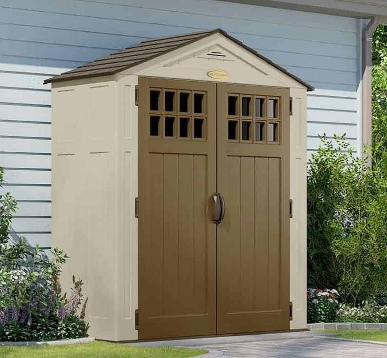 6 x 3 suncast new adlington five resin storage sheds