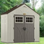 Resin Storage Sheds - 8 x 4 Suncast New Tremont Five Resin Storage Sheds
