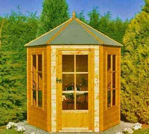 7'1x6'2 Shire Traditional Gazebo Wooden Hexagonal Summerhouse