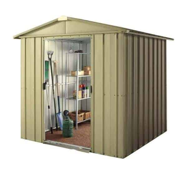 8' x 6' Lotus Aluminium White Apex Metal Shed (2.34m x 1.75m)
