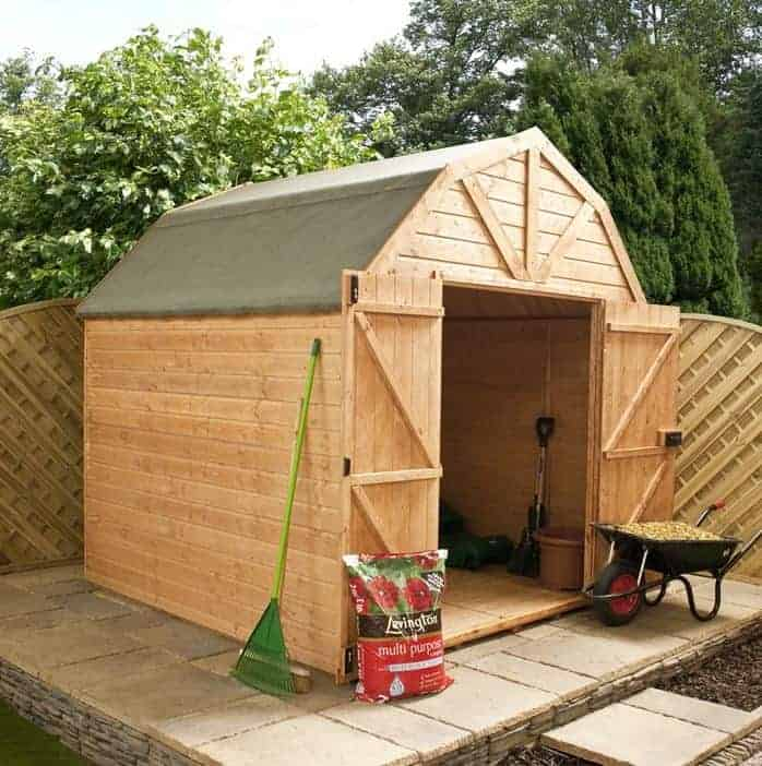 10'x8' Waltons Dutch Barn Tongue and Groove Apex Garden Shed
