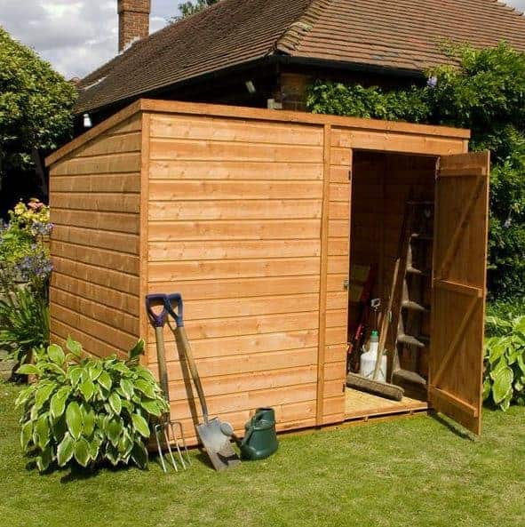 Waltons 6 x 4 Pressure Treated Shiplap Single Door Pent Wooden Shed