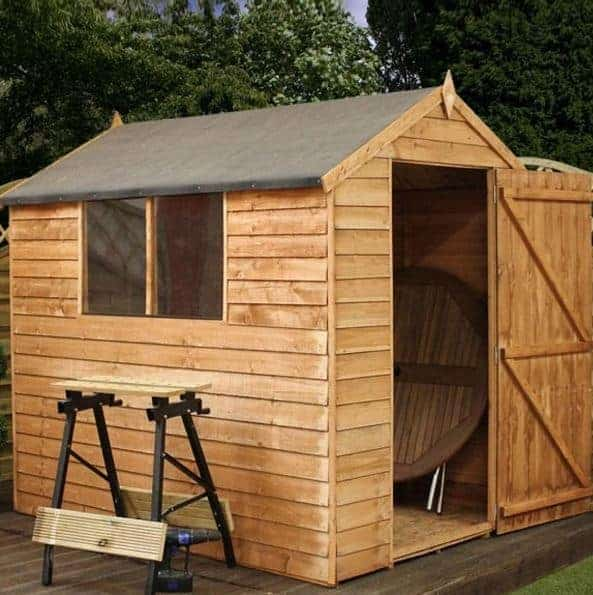 7x5 Waltons Overlap Apex Wooden Shed