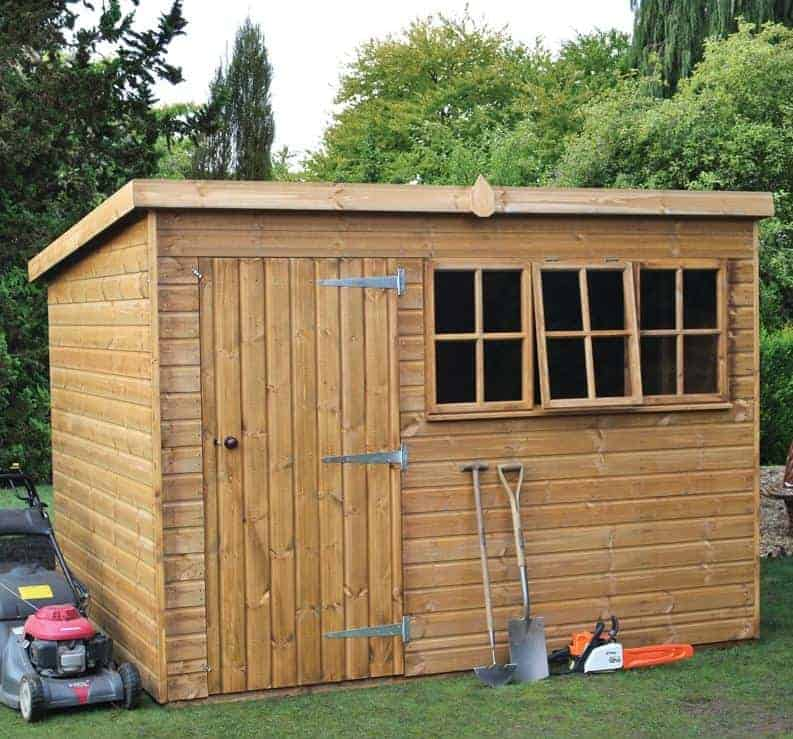 8' x 6' Traditional Heavy Duty Pent Wooden Garden Shed (2.44m x 1.83m)
