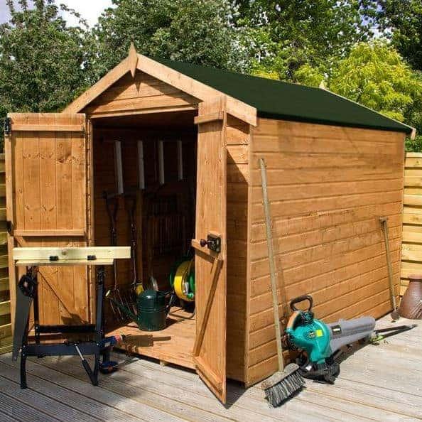 Waltons 8 x 6 Pressure Treated Shiplap Single Door Apex Garden Shed