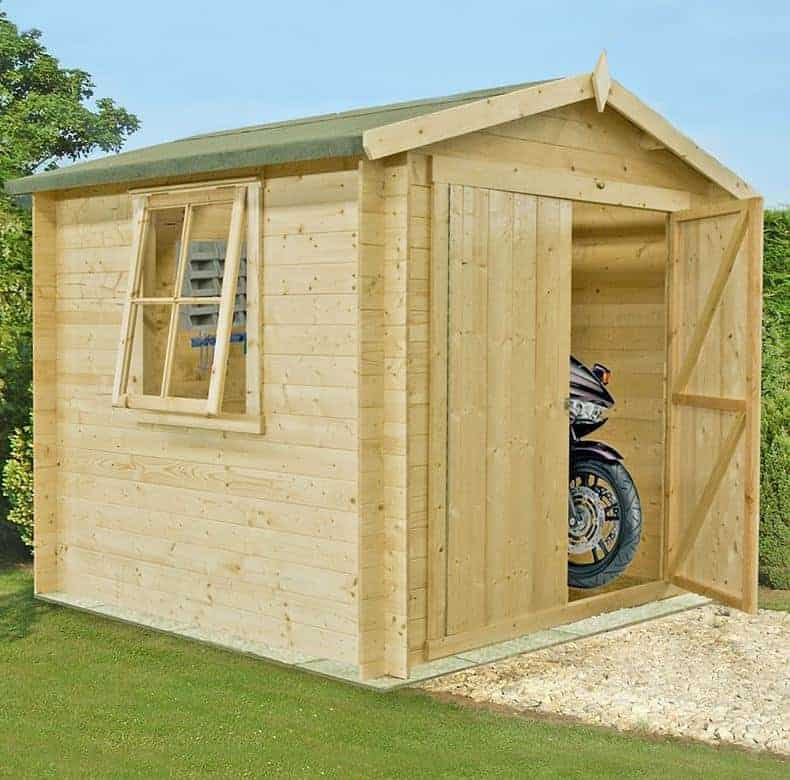 Shire Bradley 2.7m x 2.7m Log Cabin Shed (19mm)