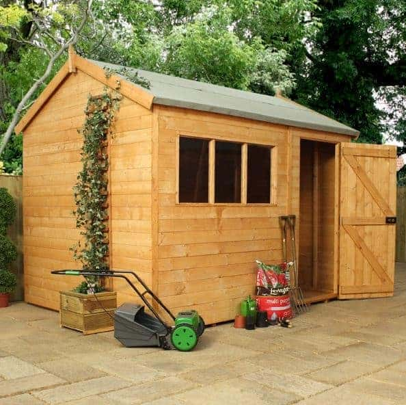 Waltons 10 x 8 Pressure Treated Shiplap Single Door Reverse Apex Wooden Shed