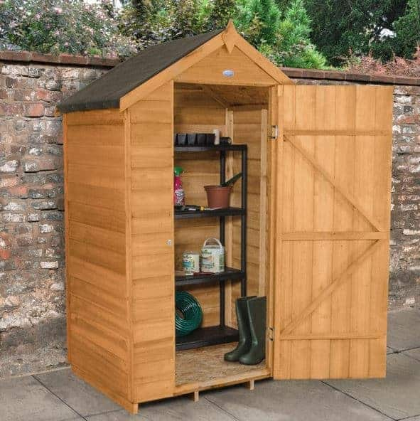 4' x 3' Forest Kielder Overlap Dip Treated Windowless Apex Wooden Shed