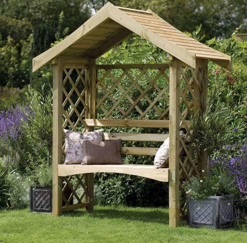 Forest Sienna Garden Arbour Seat 6'x2'